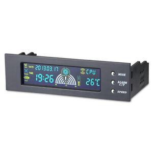 "5.25"" Bay LCD 3Pin/4Pin Fan Speed with Temp Sensor PC case Controller Panel"