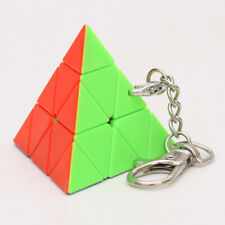 Mini KeyChain Pyramid Sharped  Magic Cube  puzzled game Toy Gift