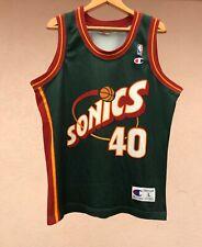 SEATTLE SONICS NBA BASKETBALL SHIRT JERSEY CAMISETA USA KEMP CHAMPION GREEN