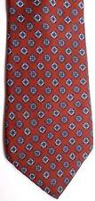 "Gloria Vanderbilt Men's Silk Tie 57.5"" X 3.25"" Brown w/ multi-color Geometric"