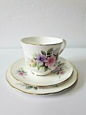 Vintage Duchess Bone China Trio, Floral Pattern Tea Cup, Saucer & Plate #1
