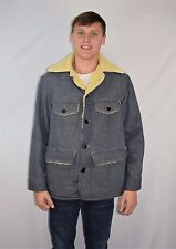 Vintage 60's 70's SEARS & ROEBUCK Denim Fleece Lined Coat Jacket - Size 42 R