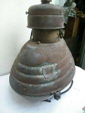 Ancienne tête lampadaire d'extérieur éclairage public lampe ancienne 1950 cuivre