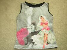 W.I.S.E. Spanish Bull Fighter & Flamingo Dancer Tank Top Jersey Women's Sz MED