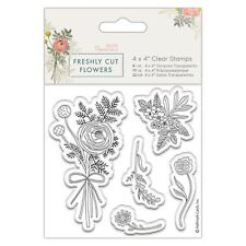 "POSEY - 4""x4""  Clear Stamp Set - Freshly Cut Flowers Collection - DoCrafts"