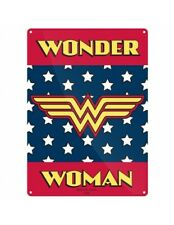 DC Comics Wonder Woman Logo Placa Metálica