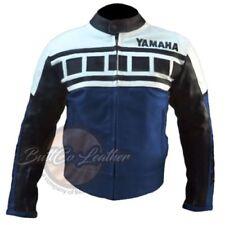 Giacche da uomo in pelle bovina con catarifrangente per motociclista