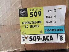 ALLEN BRADLEY NEMA Starter Stainless Steel Enclosure 509ACA