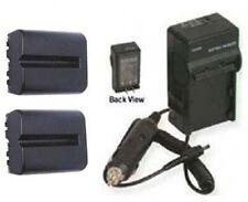 TWO 2 Batteries + Charger for Sony Alpha SLT-A77K SLT-A77VK SLT-A65 SLT-A65V