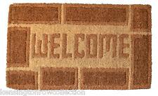 """DOOR MATS - """"WELCOME HOME"""" TRADITIONAL COIR DOORMAT - 18"""" X 30"""" - DOOR MAT"""