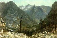 "Handpainted Oil painting The Sierra Nevadas mountains landscape canvas 24""x36"""