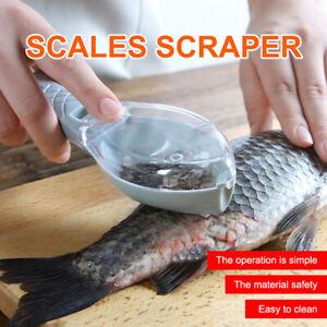 Fish Scaler Fish Skin Brush Scraping Fishing Scale Grater Remover Peeler Scaler