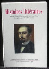 Revue Histoires littéraires n° 19 2004 Du Lérot NM
