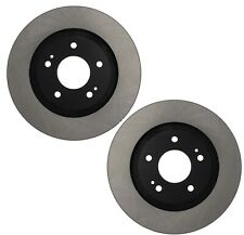Pair Set of 2 Front C-Tek Brake Disc Rotors For Mitsubishi Mirage 2014-2017
