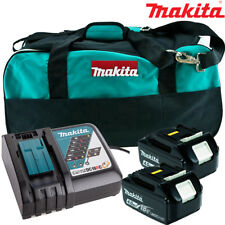 Makita 2 x BL1840 Battery + DC18RC Charger + LXT400 Bag For DHS630Z, DHS680Z