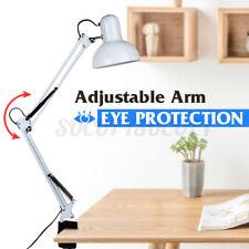 Flexible Swing Arm Clamp Mount Lamp Office Studio Home Table Desk Click Light