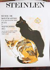 Affiche D' Exposition  Théophile Alexandre STEINLEN1859-1923 Musé Montmartre