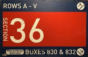 """Authentic Shea Stadium Section 36 Concourse Sign. MLB Hologram. NY Mets 30x47"""""""