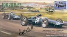 1962d brm P57s & cooper T60, italien gp, monza F1 couverture signé bette hill
