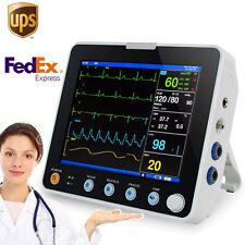 Ce Portable 8 Inch Multi Parameter Monitor Icu Ccu Vital Sign Patient Monitoring