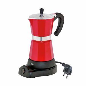 CILIO Espressokocher CLASSICO elektrisch für 6 Tassen ROT