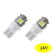 2 ampoules à LED smd w5w / T10  Blanc Camion  Poids lourd Bateaux  24v  24 volt