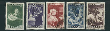 Saar 1951 St. Martin and the Beggar etc. (Sc B84-88 complete set) Vf Used