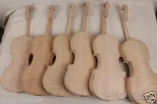 4 pcs violin unfinished flame maple back Russian spruce top  New 4/4 yinfente
