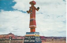 Gallup NM Giant Kachina Doll Route 66 Postcard 1950s