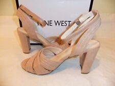 NINE WEST Niaria Taupe Suede Ankle Strap Sandal Heel Dress Size 10.5 NIB $89