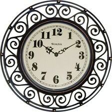 Westclox 12 Inch Wrought Iron Style 32021 Wall Clock Round Analog