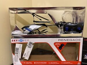 SkyRover Renegade Helicopter Remote Control Silver/Blue - US858250-2 WORKS 1 BL