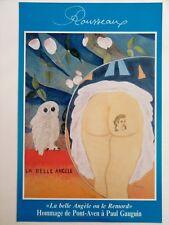 """ROUSSEAUX Claude affiche """"LA BELLE ANGÈLE """" Spirit of PONT-AVEN Hommage GAUGUIN"""