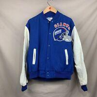 Vintage Giants NFL Men XL Leather Chalk Line NFC Button Letterman Varsity Jacket
