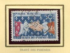 STAMP / TIMBRE FRANCE OBLITERE N° 1223 SYMBOLE DU TRAITE DES PYRENNES