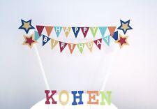 Handmade Personalised Cake Topper -Stars- Birthday Cake Decoration.