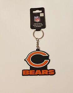 Chicago Bears Team Logo Key Ring Keychain Soft Rubber Die Cut Large Logo
