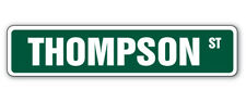 THOMPSON Street Sign Childrens Name Room Decal| Indoor/Outdoor