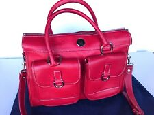 Dooney & Bourke Red All Weather Leather Zip Top Double Pocket Tote - used once!