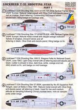 Print Scale Decals 1/72 LOCKHEED T-33 SHOOTING STAR Jet Trainer