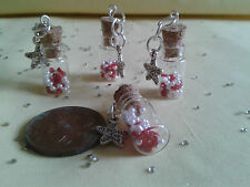 """Message (in a ) Bottle """"Just for You"""" Tiny Ideal Gifts or Wedding Favours"""