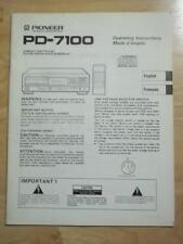 Original Halter/Bedienungsanleitung für Pioneer pd-7100 CD Player