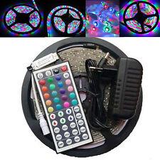 5m 3528 300 led RGB Strip ribbon tape light string + Remote controller + power