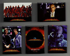 """Set of 5 Armageddon Movie Promo Buttons Touchstone Pictures 1998 3"""" by 2"""""""