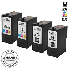 4p Lexmark 18C2090 14 18C2110 15 BLACK Color Ink Cartridge for z2300 x2670 x2650