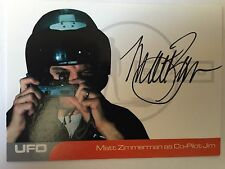 UFO AUTOGRAPH CARD Matt Zimmerman as Co-Pilot Jim MZ2