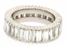 Platinum 7.0CT VS1/G Rectangle cut diamond eternity band ring size 6.25