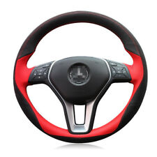 For Benz E300L E260L E200 DIY Hand-stitched Car Steering Wheel Cover Top Leather