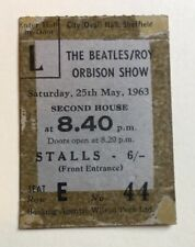 Beatles Roy Orbison May 1963 Concert Ticket Sheffield Original Rare