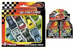 8 pcs Die Cast Cars Gift Set F1 Racing Vehicle Children Kids Play Toy UK STOCK